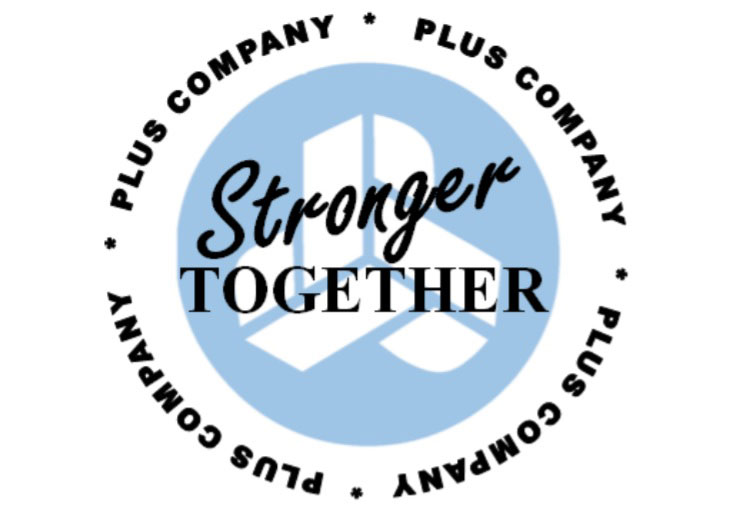 Stronger Together logo graphic